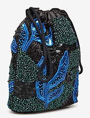 HVISK - POUCH GALLERY BEADED - clutches - blue / black - 2