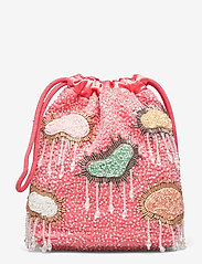 HVISK - POUCH MULTI CLOUD BEADED - bucket-laukut - peach - 0