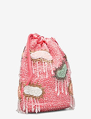 HVISK - POUCH MULTI CLOUD BEADED - bucket-laukut - peach - 2