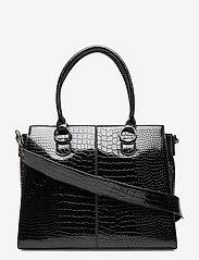 HVISK - MOXIE CROCO - handväskor - black - 0