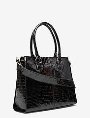 HVISK - MOXIE CROCO - handväskor - black - 2