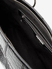 HVISK - MOXIE CROCO - handväskor - black - 3