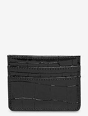 CARD HOLDER CROCO - BLACK