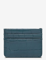 CARD HOLDER CROCO - DARK BLUE