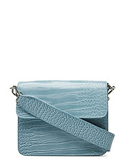 CAYMAN SHINY STRAP BAG - BABY BLUE