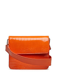CAYMAN SHINY STRAP BAG - ORANGE