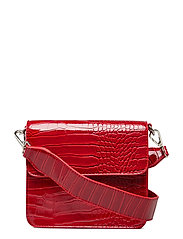 CAYMAN SHINY STRAP BAG - WINE RED