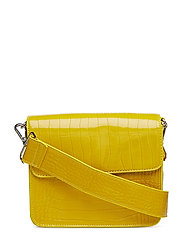 CAYMAN SHINY STRAP BAG - YELLOW