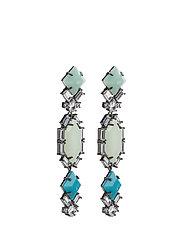 Saona Earrings - GUN METAL / BLUE