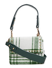 MELLOW STUDDED BAG - WHITE / GREEN