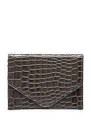 WALLET CROCO - DARK GREY