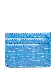 CARD HOLDER CROCO - BLUE