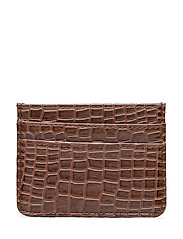 CARD HOLDER CROCO - BROWN