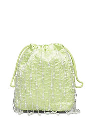 POUCH ROMANCE BEADED - LIME GREEN