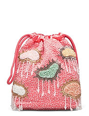 POUCH MULTI CLOUD BEADED - PEACH