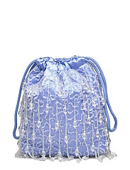 POUCH ROMANCE BEADED - BABY BLUE