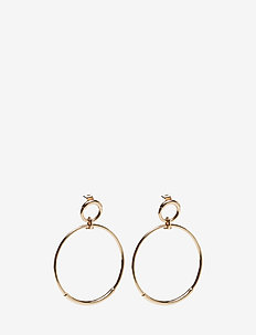 TUBE CIRCLE EARRINGS - GOLD
