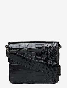 CAYMAN SHINY STRAP BAG - BLACK