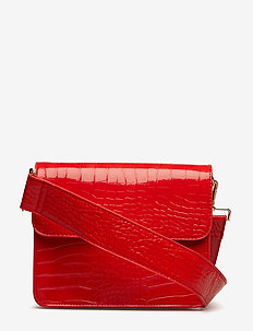 CAYMAN SHINY STRAP BAG - RED
