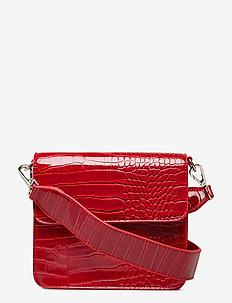 CAYMAN SHINY STRAP BAG - WINE RED