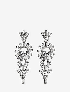 Embellished Earrings - hängande - gun metal