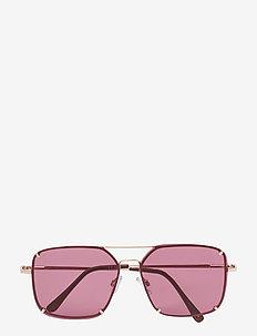 HOOK - okulary przeciwsłoneczne prostokątne - red