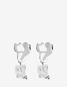 ROCK EARRINGS - statement - silver