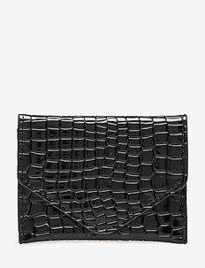 WALLET CROCO - BLACK