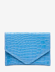 WALLET CROCO - BLUE