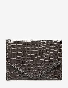 WALLET CROCO - portfele - dark grey