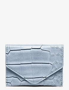 WALLET CROCO - lompakot - dusty blue