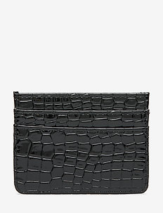 CARD HOLDER CROCO - BLACK