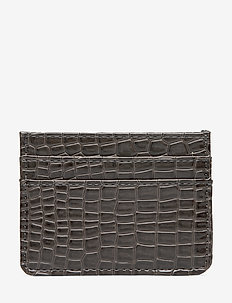 CARD HOLDER CROCO - DARK GREY