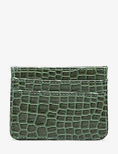 CARD HOLDER CROCO - JUNGLE GREEN