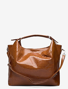 PRANCE CROCO - bucket bags - chocolate