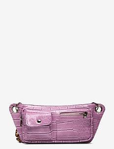 BRILLAY CROCO - midjeveske - dusty pink