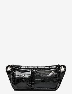 BRILLAY CROCO - belt bags - jet black