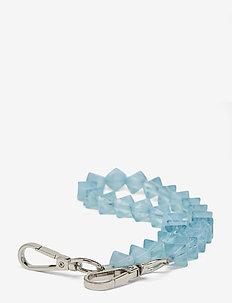 CRYSTAL CHAIN HANDLE - breloki - baby blue