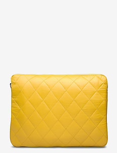 "COMPUTER SLEEVE 13"" QUILTED TRAWL - laptoptassen - yellow"