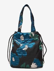 POUCH WILD FLOWER - bucket-laukut - green / blue
