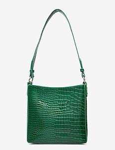 AMBLE CROCO SMALL - handväskor - pine green