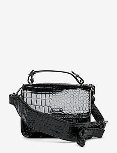 RENEI CROCO - handväskor - black