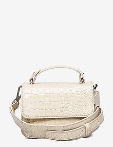 RENEI CROCO - handväskor - soft offwhite