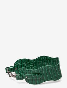 WAVY HANDLE SHORT - bag straps - pine green