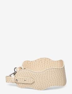 WAVY HANDLE SHORT - bag straps - soft offwhite