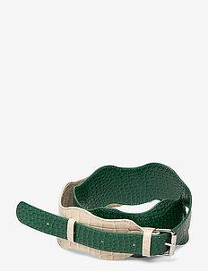 WAVY HANDLE MIX LONG - bag straps - pine green
