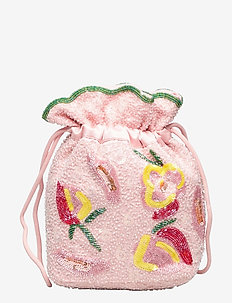POUCH DALE BEADED - bucket-laukut - pink