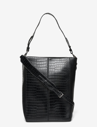 CASSET MATTE CROCO - shoppers - black