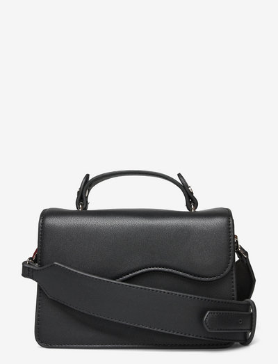 CRANE SRUCTURED - crossbody bags - black