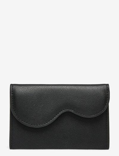 WALLET WAVY STRUCTURE - purses - black